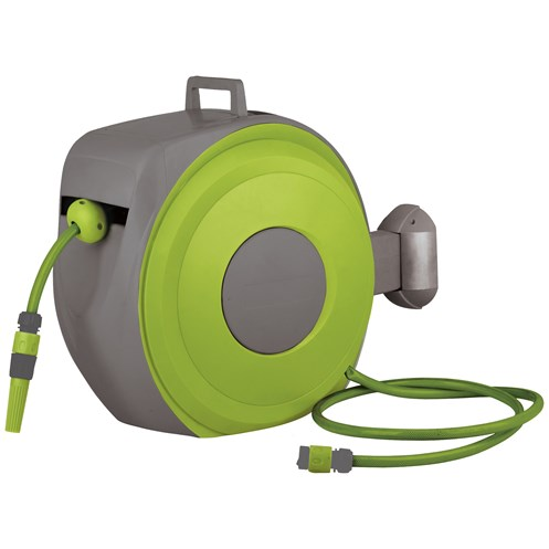 True Temper  Wall Mounted Retractable Auto Hose Reel with 20m Hose