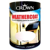 Crown  Weathercoat Colours Paint - 5 Litre
