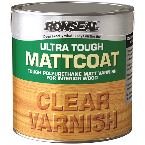 Ronseal  Ultra Tough Varnish Matt - 2.5 Litre
