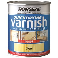 Ronseal  Quick Drying Varnish Gloss - 250ml