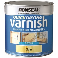 Ronseal  Quick Drying Varnish Satin - 2.5 Litre