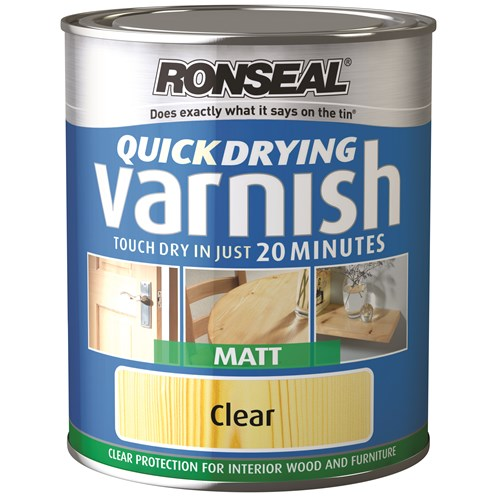 Ronseal  Quick Drying Varnish Matt - 750ml