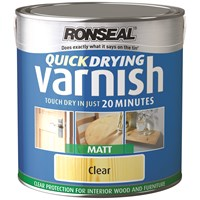 Ronseal  Quick Drying Varnish Matt - 2.5 Litre
