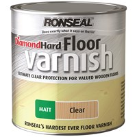 Ronseal  Diamond Hard Floor Varnish Matt - 2.5 Litre