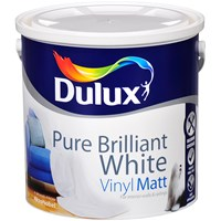 Dulux Vinyl Matt Pure Brilliant White Paint - 2.5 Litre