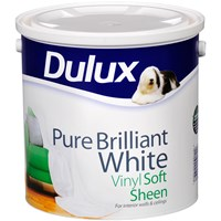 Dulux Vinyl Soft Sheen Pure Brilliant White Paint - 2.5 Litre