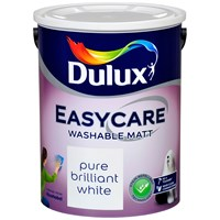 Dulux Easycare Washable Matt Pure Brilliant White Paint - 5 Litre