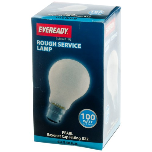 Eveready  Rough Service GLS Light Bulb - 100W BC