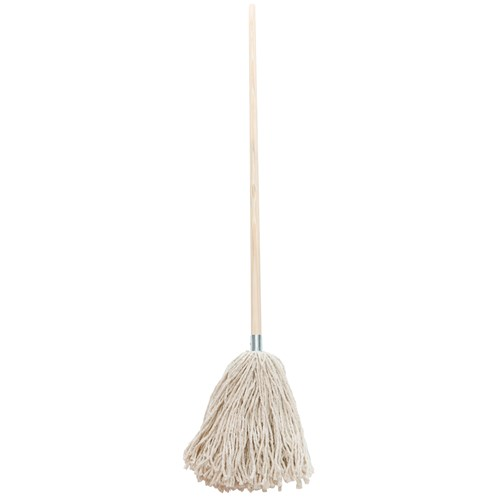 Dosco  White Mop Head & Handle With Metal Socket No. 16