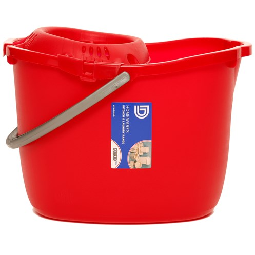 Dosco  Mop Bucket with Wringer - Red