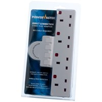 Powermaster  Switched & Surge Protected Plug Board - 4 Gang
